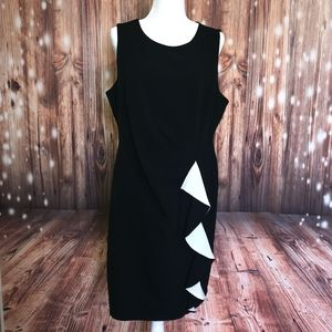 MSK Black Ruffle Sheath Dress
